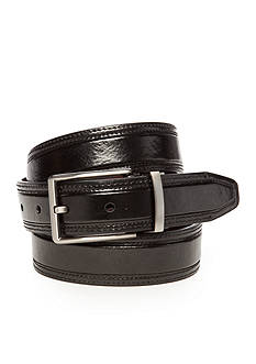 Geoffrey Beene Black & Burgundy Reversible Belt
