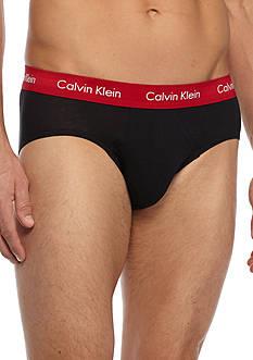Calvin Klein Cotton Stretch Hip Briefs - 3 Pack