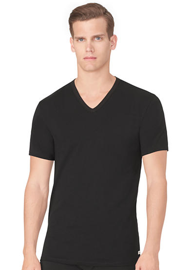 Calvin Klein 2-Pack Cotton Stretch Short Sleeve V-Neck Tee Shirts