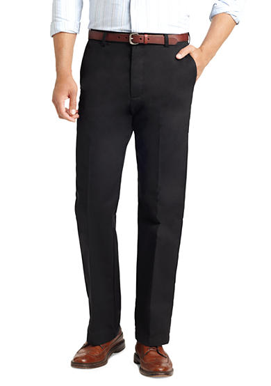 IZOD American Chino Straight-Fit Flat Front Wrinkle-Free Pant