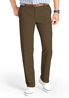 IZOD Saltwater Slim Fit Flat Front Pants