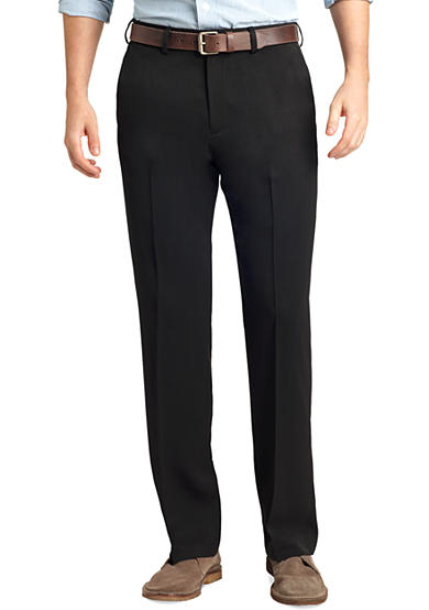 IZOD Straight-Fit Travel Flat-Front Wrinkle-Free Dress Pants