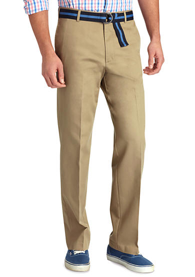IZOD Straight Fit Madison Flat Front Non-Iron Pants