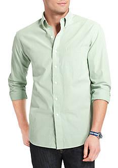 IZOD Button Down Check Woven Shirt