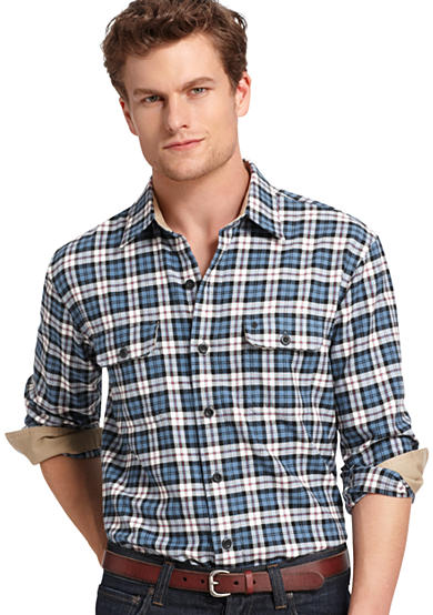 IZOD Highland Twill Plaid Shirt