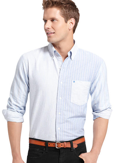 IZOD Washed Oxford Panel Woven