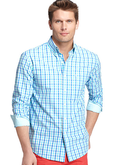 IZOD Long Sleeve Button Down Tattersall