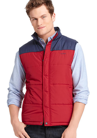 IZOD Color Block Puffer Vest