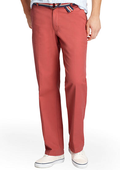 IZOD Saltwater Straight Flat Front Pants