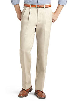 IZOD Big & Tall American Chino Comfort Fit Pleated Non-Iron Pants