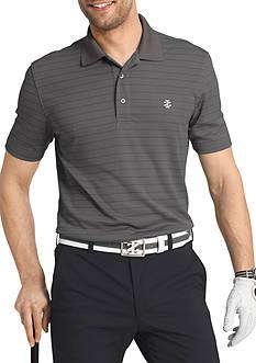 IZOD Short Sleeve Performance Stripe Jacquard Polo Shirt
