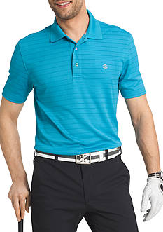 IZOD Short Sleeve Performance Stripe Jacquard Polo Shirt