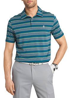 IZOD Short Sleeve Striped Performance Polo Shirt