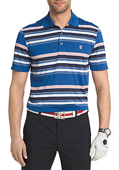 IZOD Short Sleeve Winners Striped Polo Shirt