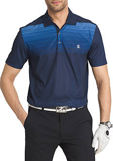 IZOD Short Sleeve Ridgeline Printed Ombre Polo Shirt