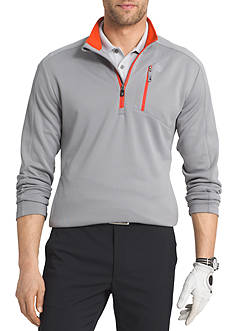IZOD Long Sleeve 1/4 Zip Mock Neck Pullover