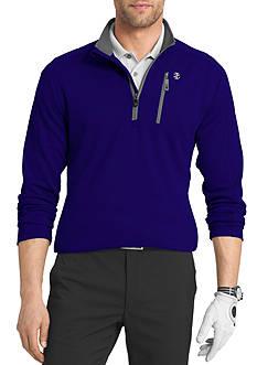 IZOD Long Sleeve 1/4 Zip Mock Neck Pullover