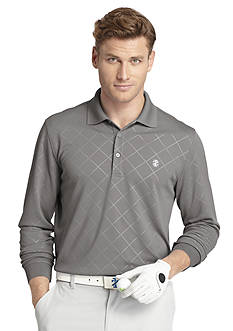 IZOD Golf Long Sleeve Emboss Argle Polo