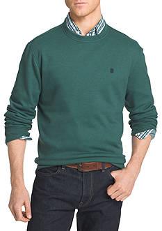 IZOD Advantage Stretch Long Sleeve Fleece Crew Shirt