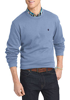 IZOD Advantage Stretch Long Sleeve Fleece Crew