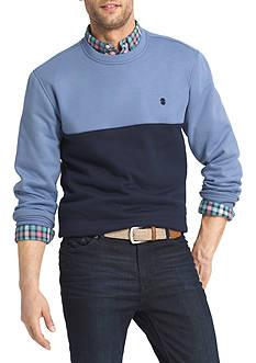 IZOD Advantage Stretch Fleece Colorblock Sweatshirt