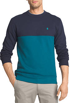IZOD Advantage Stretch Fleece Colorblock Sweatshirt