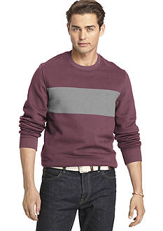 IZOD Colorblock Crew Top