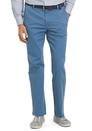 IZOD Straight Fit Flat Front Performance Stretch Chino Pants