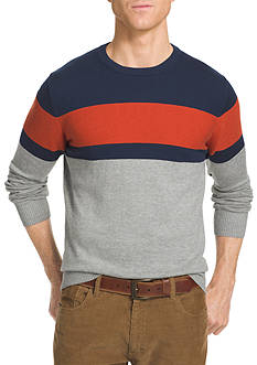 IZOD Color Block Field House Sweater