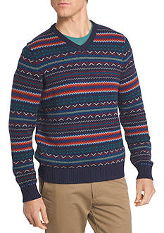 IZOD Fair Isle V-Neck Sweater