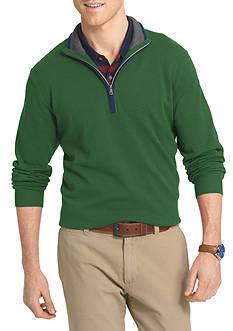 IZOD Long Sleeve Fieldhouse 1/4 Zip Sweater