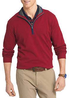 IZOD Long Sleeve Fieldhouse 1/4 Zip Sweater