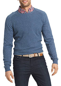IZOD Long Sleeve Waffle Crew Neck Sweater