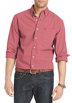 IZOD Long Sleeve End on End Button Down Shirt