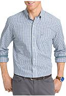 IZOD Long Sleeve Tattersall Essential Woven Shirt