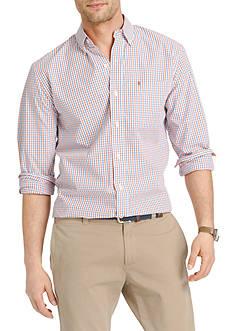 IZOD Long Sleeve Tattersall Essential Woven Shirt