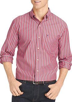 IZOD Long Sleeve Durham Poplin Button Down Shirt