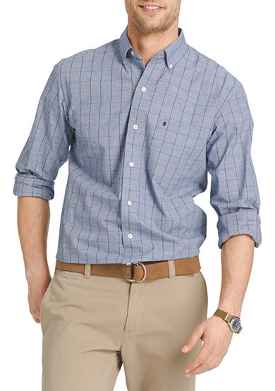Izod long sleeve essential button down shirt belk for Izod button down shirts