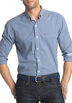 IZOD Advantage Stretch Gingham-Checked Shirt