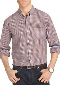 IZOD Advantage Stretch Gingham-Checked Shirt