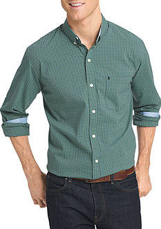 IZOD Advantage Stretch Tonal Gingham Shirt