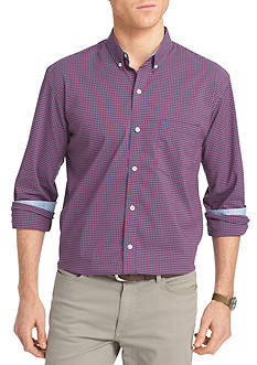 IZOD Advantage Stretch Tonal Gingham Shirt