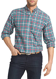 IZOD Newport Oxford Plaid Shirt