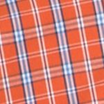 Young Men: Check & Plaid Sale: Burnt Ochre IZOD Long Sleeve Durham Poplin Button Down Shirt