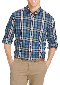 IZOD Long Sleeve Woven Button Down Shirt