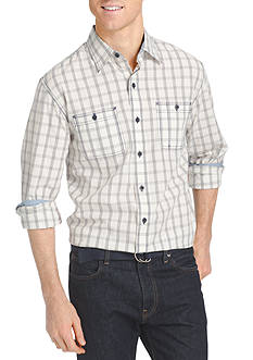 IZOD Long Sleeve Check Woven Shirt