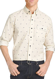 IZOD Long Sleeve Novelty Print Woven Shirt