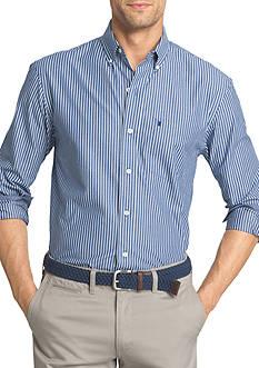 IZOD Striped Stretch Poplin Shirt