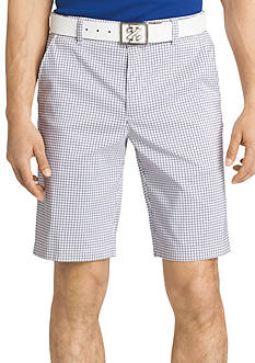 IZOD Golf 10.5-in. Straight-Fit Flat-Front Mini-Check Shorts