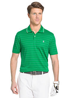 IZOD Mesh Striped Golf Polo Shirt